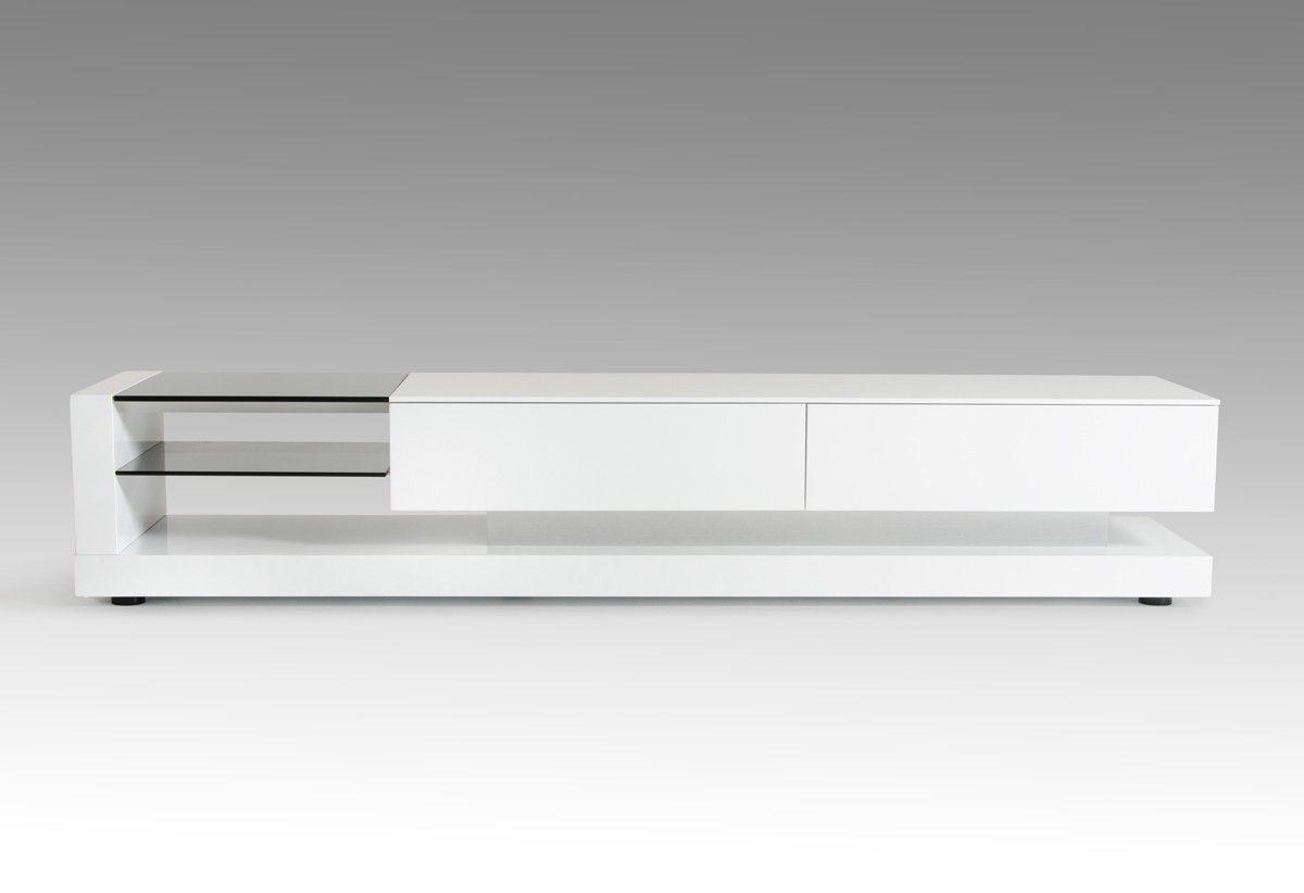 Modrest Mali Modern White Tv Stand In 2021 White Tv Stands White Tv Contemporary Tv Stands