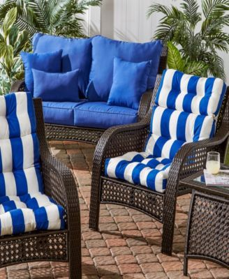 Set Of 2 Outdoor High Back Chair Cushions Red Outdoor Seat Cushions Chair Cushions Outdoor Lounge Chair Cushions