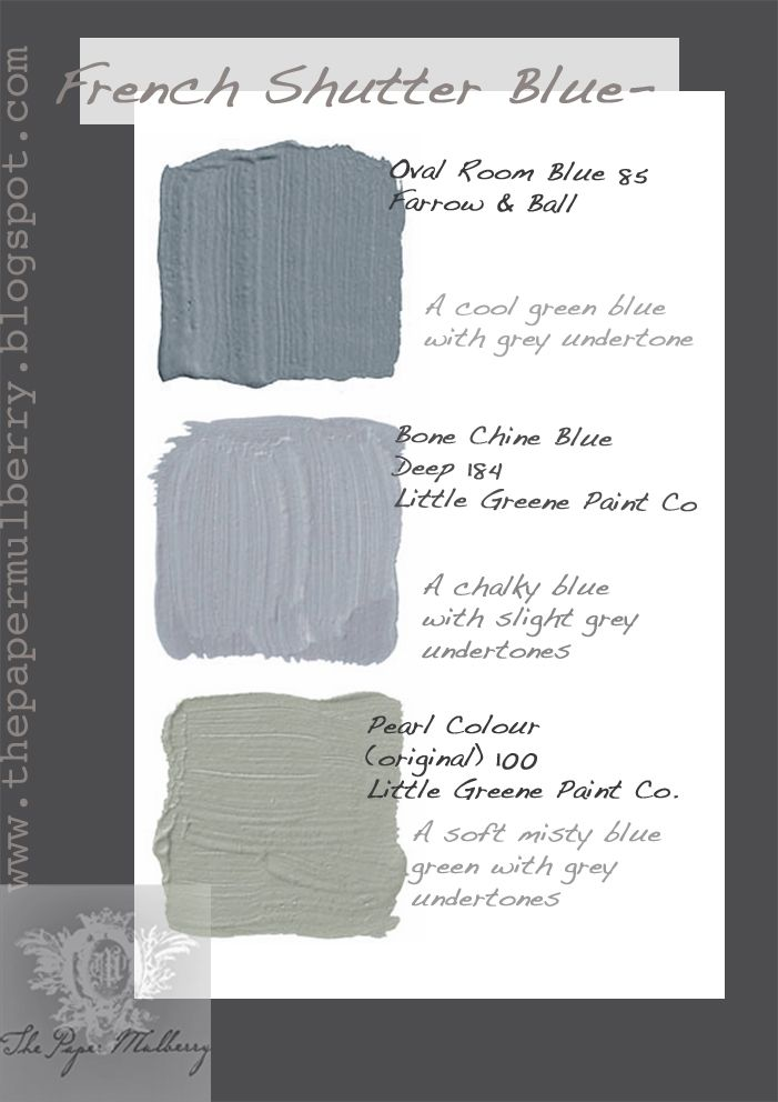 Soft Misty Shades Of French Shutter Blue And Green Paints The Paper Mulberry Exterior Paint Part 2