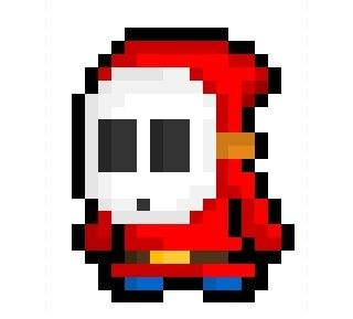 A Shy Guy, craftily concealed compatriot of Bowser's Koopa Army and  recurring character from Nintendo's