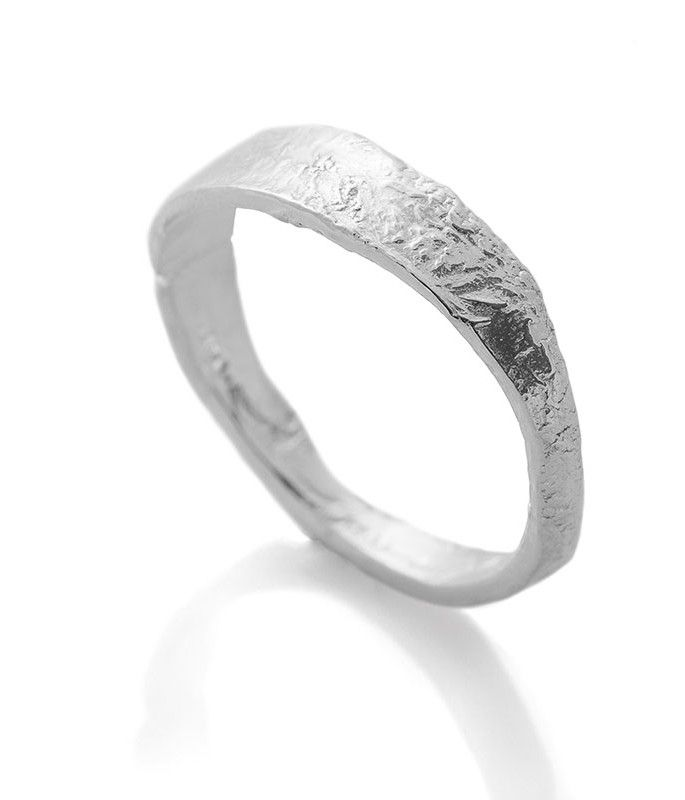 Reticulated Ring Band Recycled Silver Jewellery