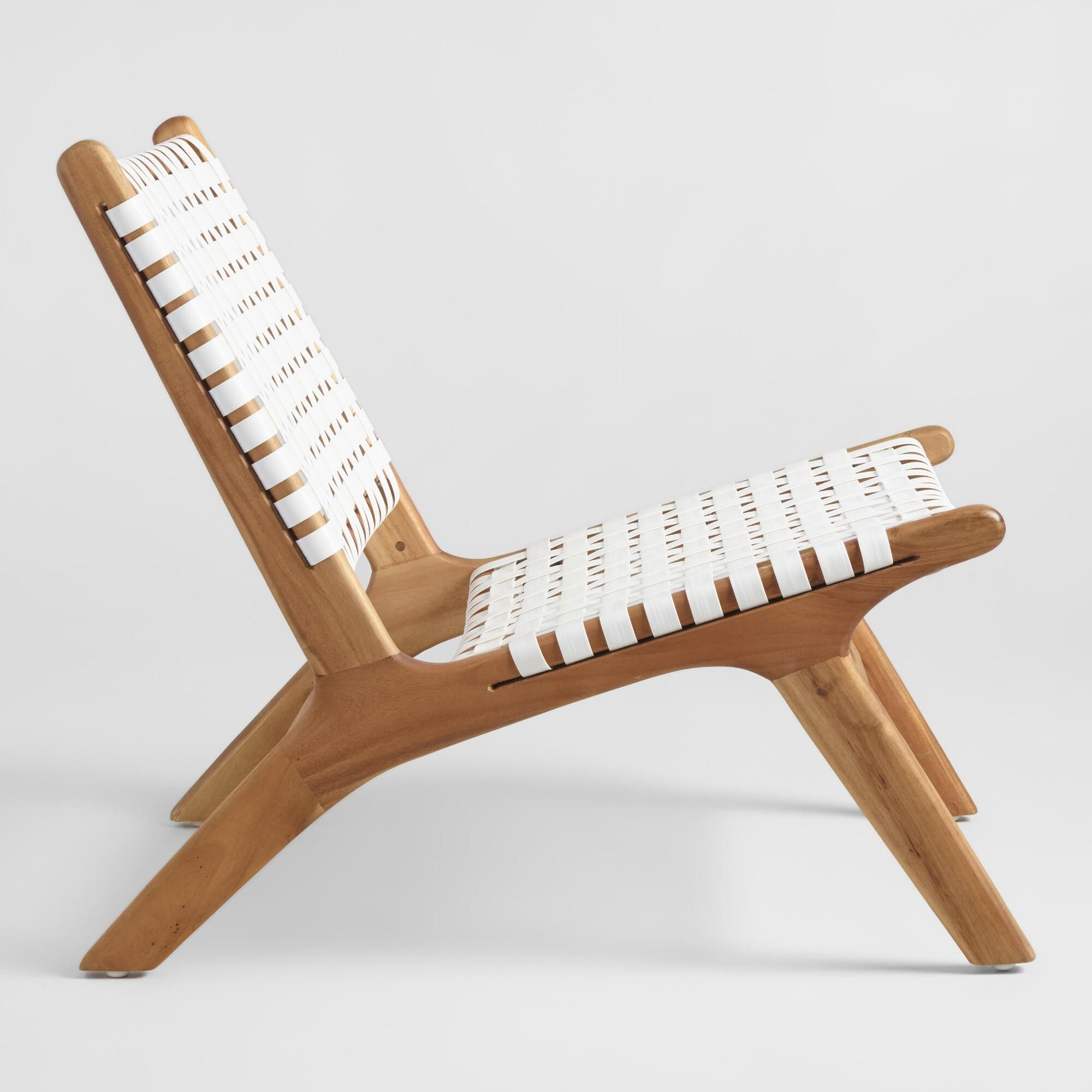 White Strap Girona Outdoor Accent Chairs Set Of 2 Accent