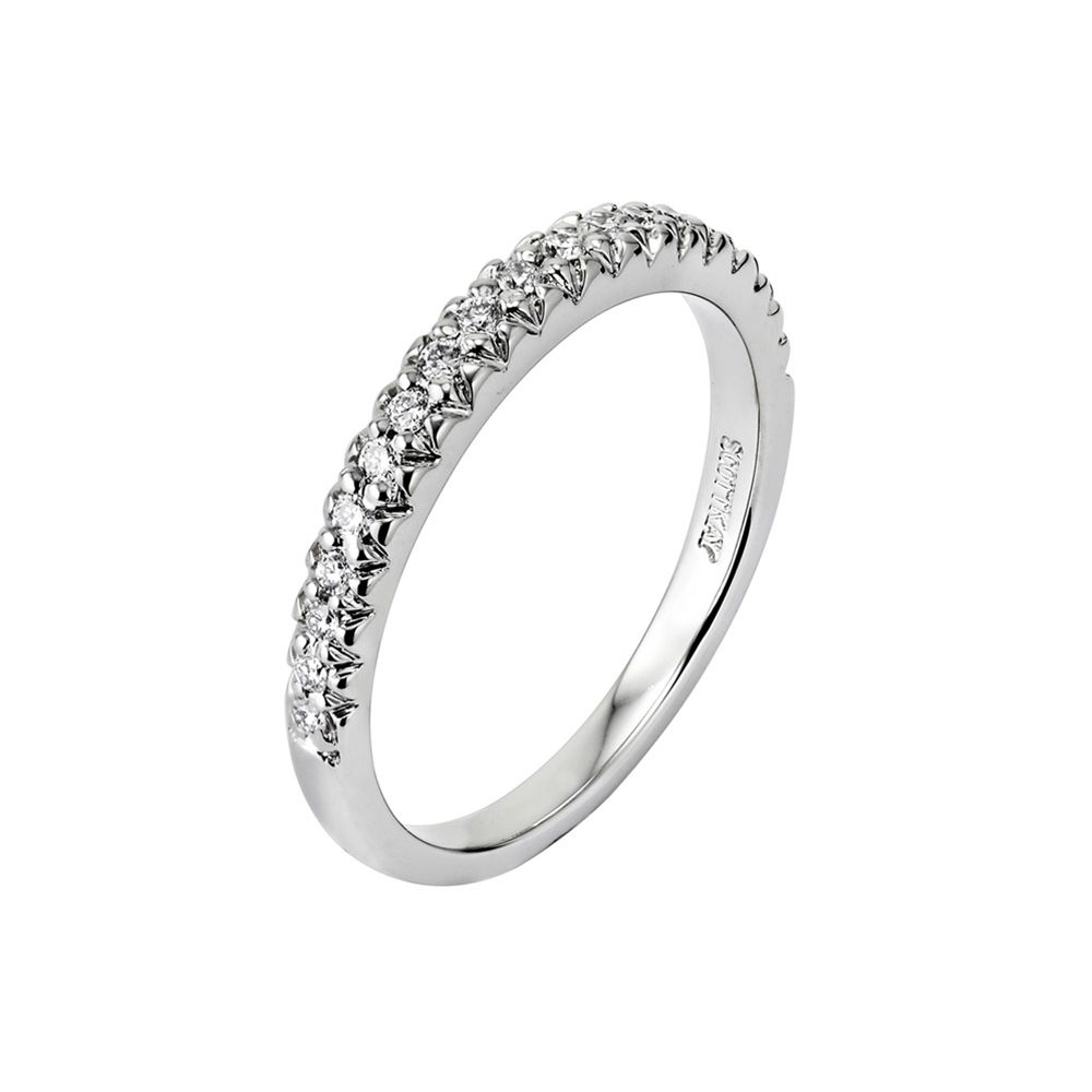 14kt White Gold H Si Ladies Wedding Band From The Luminaire Collection By Scott Kay Womens Wedding Bands Kay Jewelers Engagement Rings Wedding Bands
