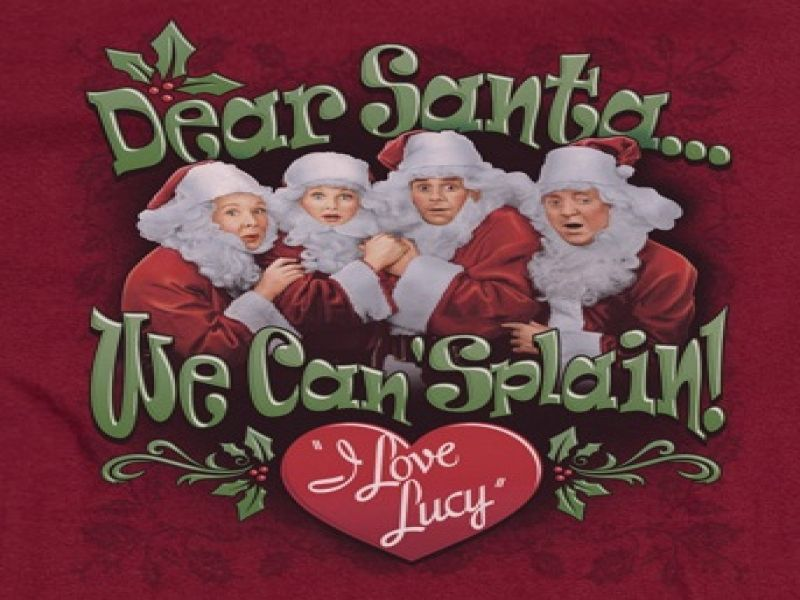 I Love Lucy Christmas Cards T Shirts