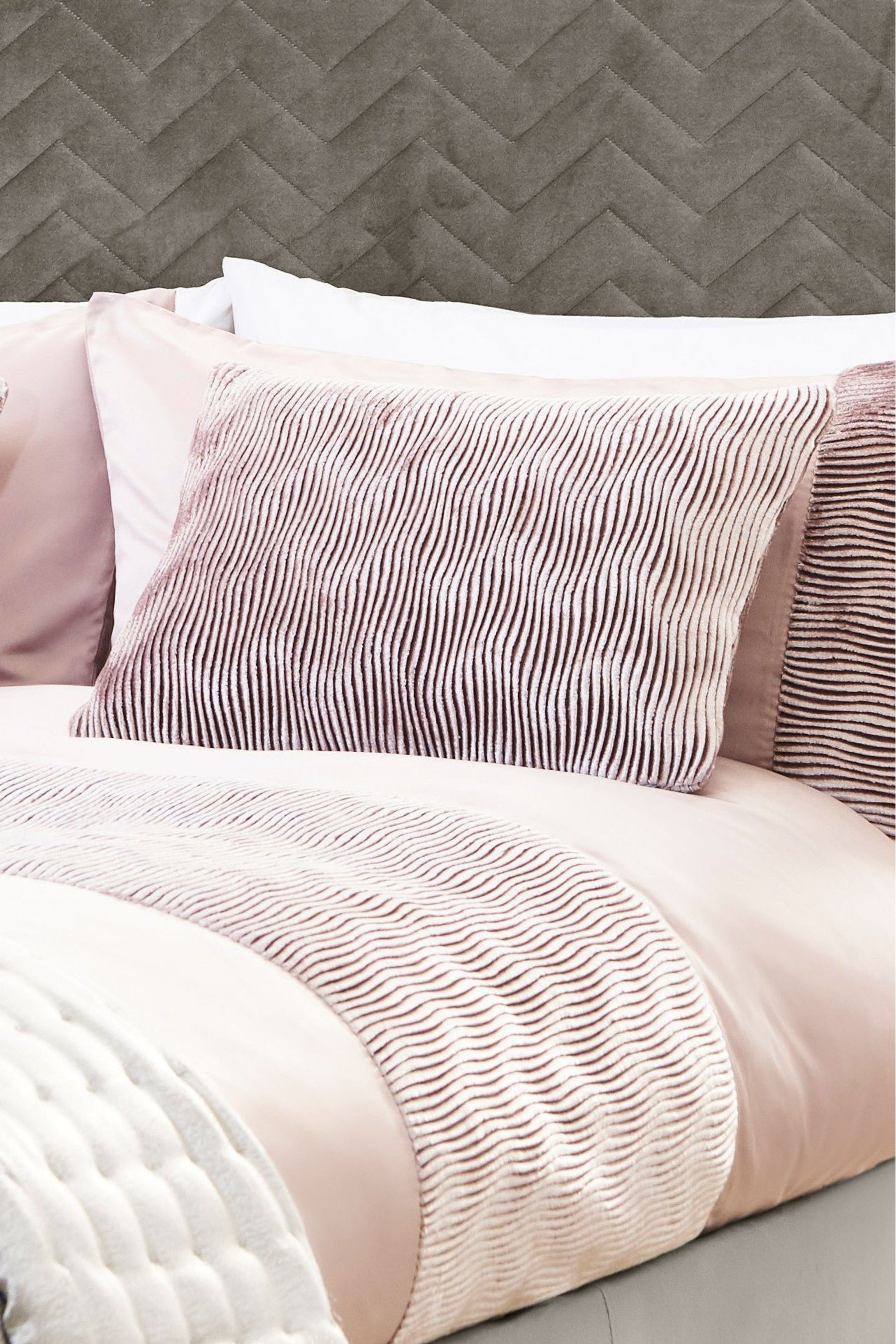 Lipsy Pleated Wave Cushion Pink (With images) Plain