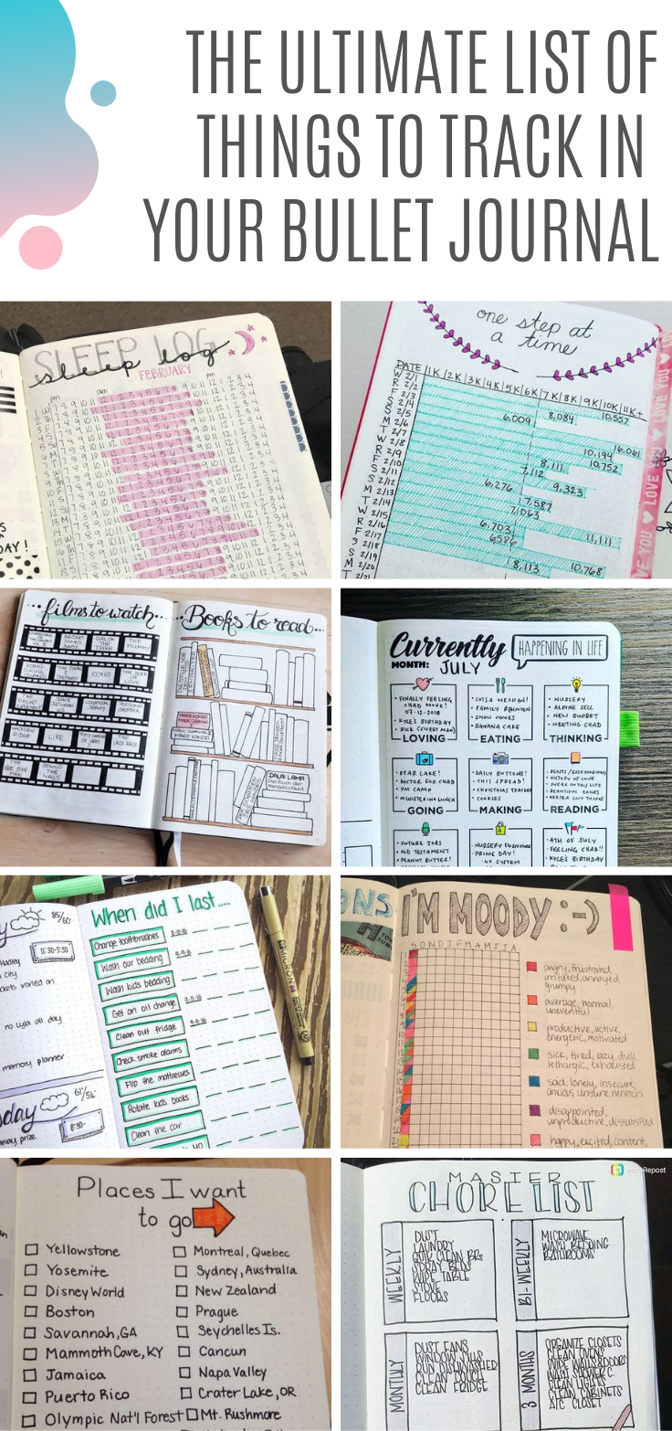 35+ Bullet Journal Tracker Ideas - Inspiration You'll Love