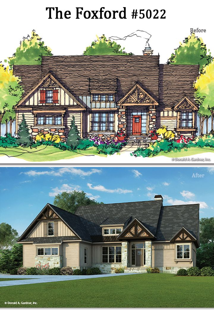 Before and after the foxford 5022 http www for Homeplan com