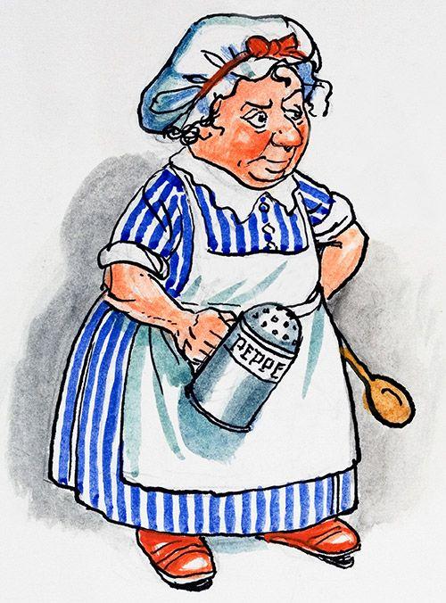 The Cook - Alice in Wonderland 66 (Original) by Alice in Wonderland ...