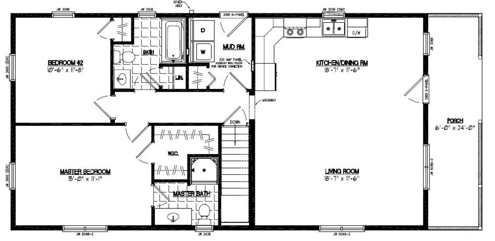 24 x 48 homes floor plans google search small house for 36 x 36 garage with apartment