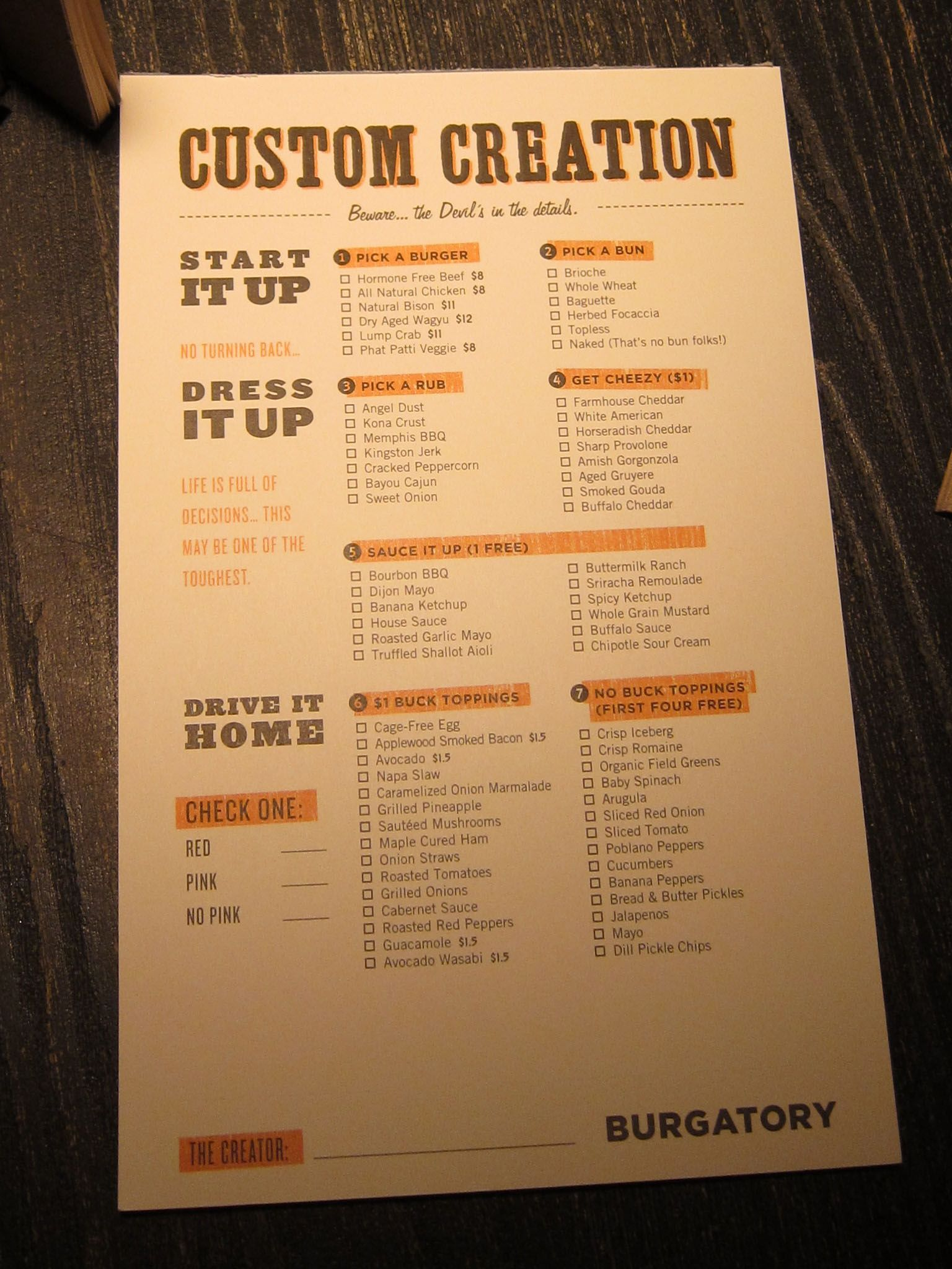 Burgatory   Burger menu, Burgers and Menu