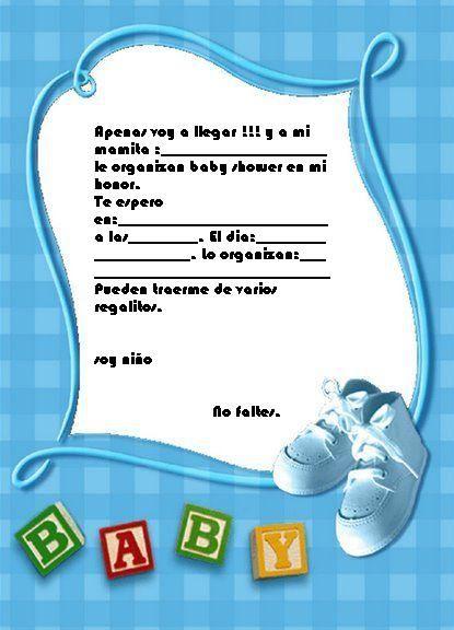 Mis Pequeñas Manualidades: INVITACIONES PARA BABY SHOWER