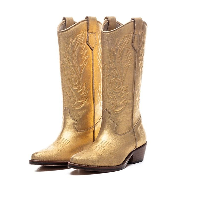 TORAL METALLIC SUEDE WESTERN BOOTS in