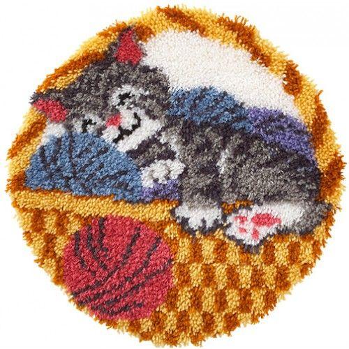 Cat Nap Latch Hook Rug Kit