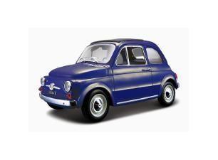 Fiat 500 F 1965 1:24, Blauw - Bburago - toysxl.nl