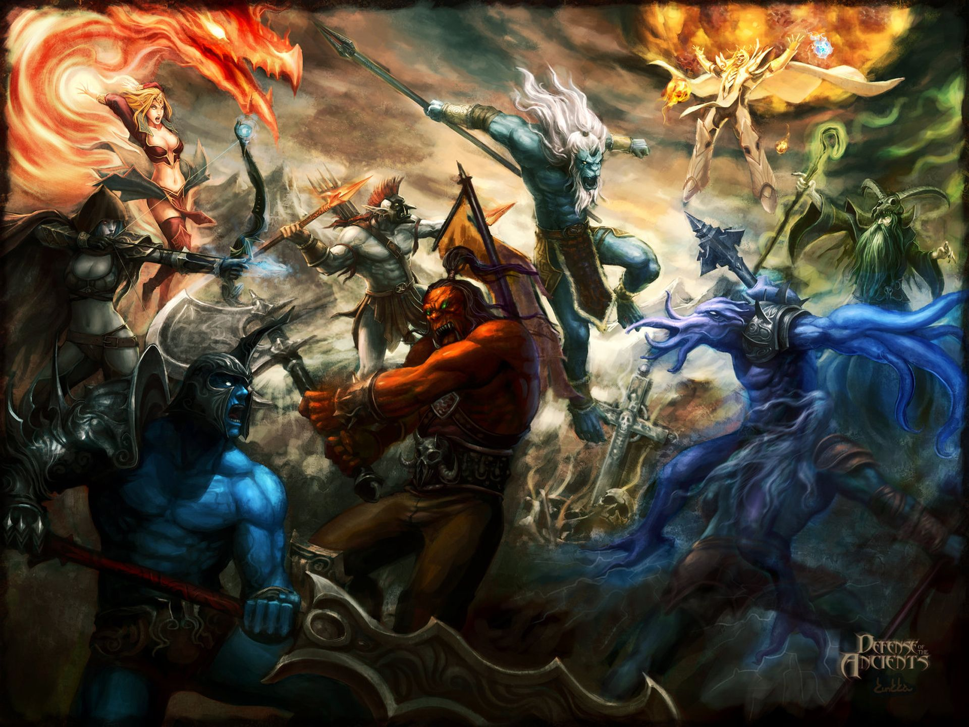 Video Game Dota Defense Of The Ancient Wallpaper Defense Of