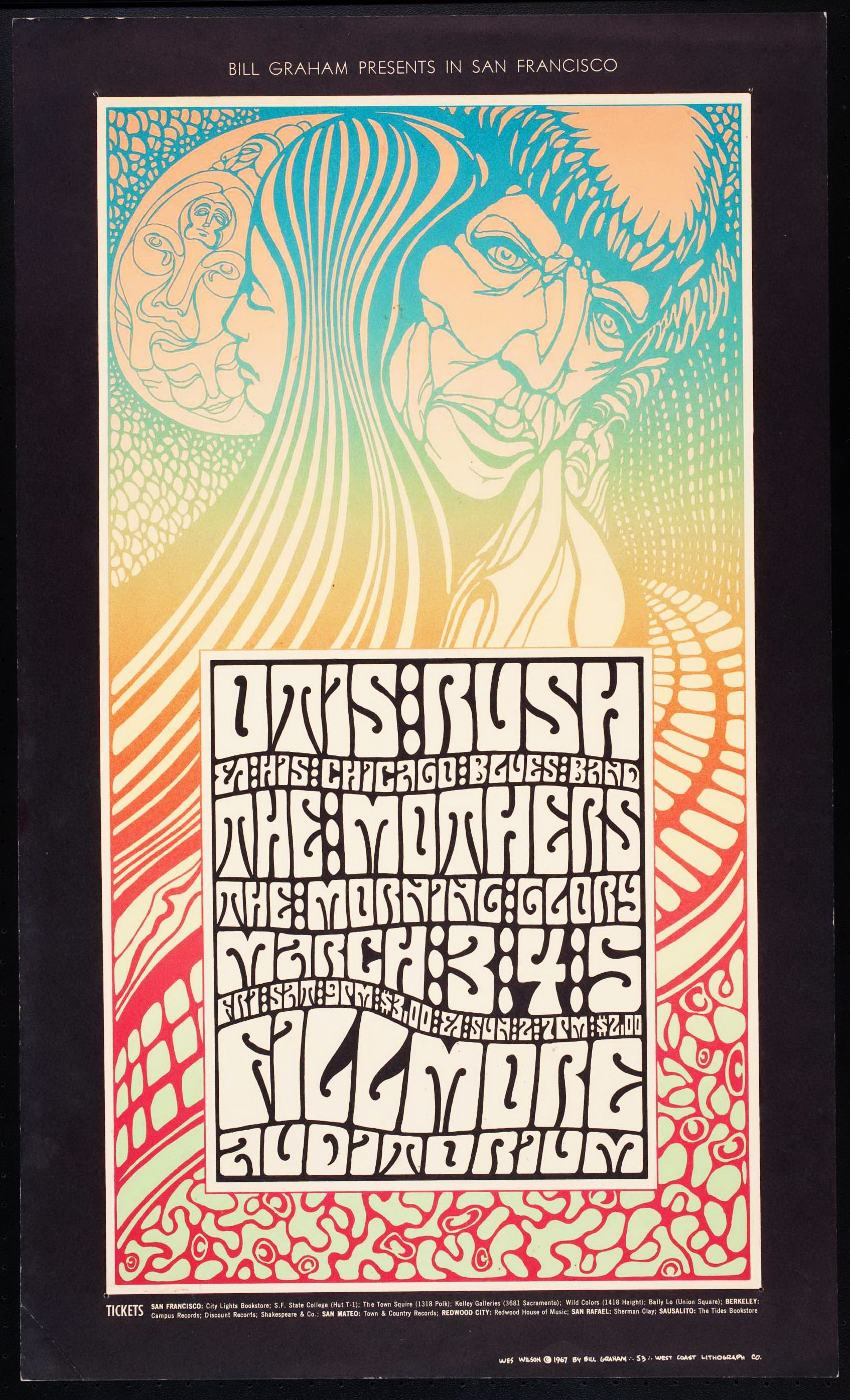 Otis Rush, The Mothers fillmore poster