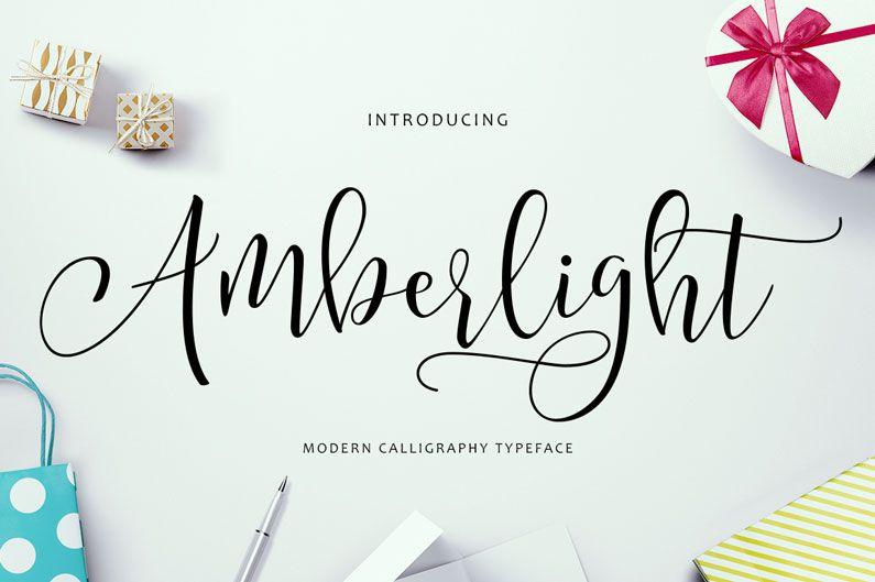 Amberlight Script Font | Fonts & Typography | Pinterest | Modern ...