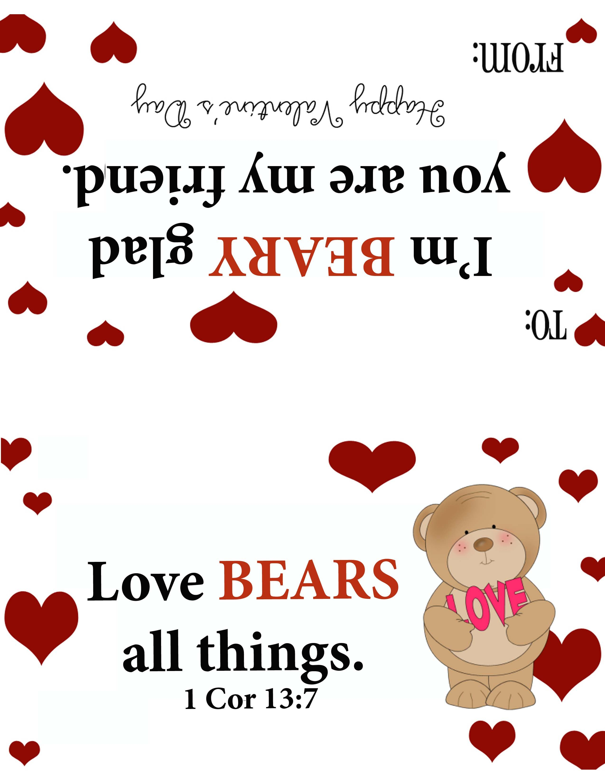 Valentine Print Out To Attach To Teddy Grahams Or Gummy