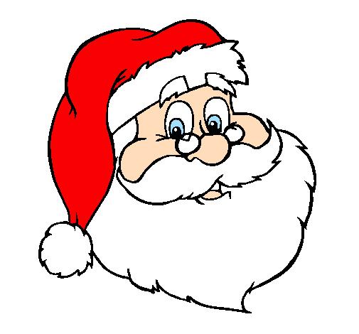 Desenho Colorido De Papai Noel Desenho De Santa Claus Pintado E