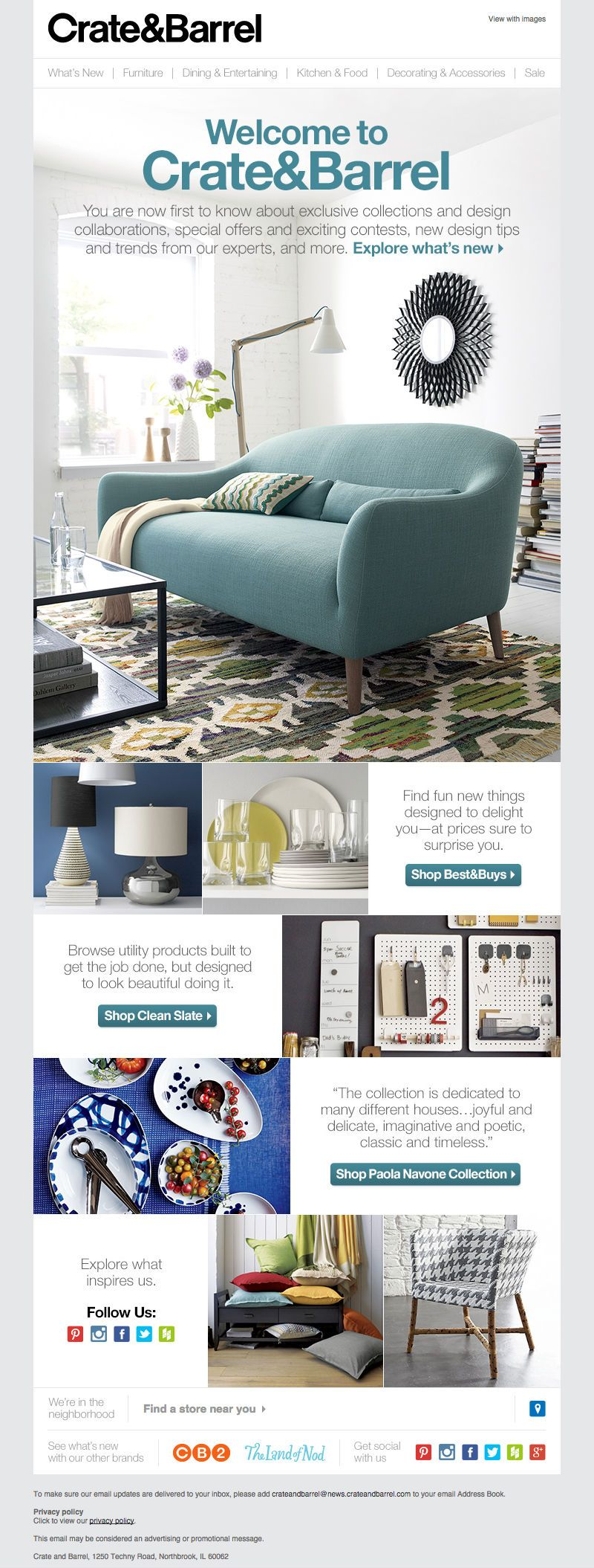House & Garden ecommerce newsletter - good email example #email #design #newsletter #emaildesign #newsletterdesign #inspiration #furniture