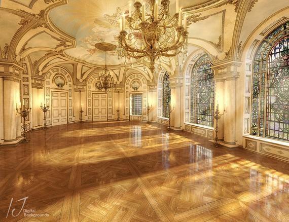 Ballroom background beauty adn the beast Cinderella ballroom backdrop fairy tale