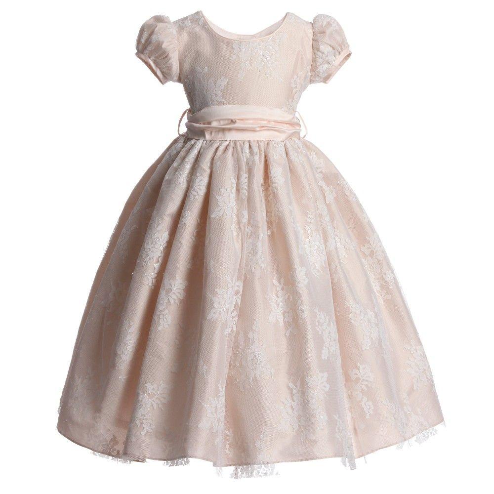 Lace dress pink  Pink Lace uChloeu Ballerina Length Dress  Chloe dress Ballerina