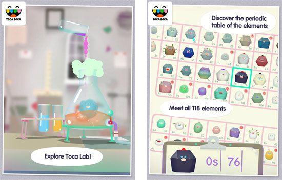 Toca Boca has released its Toca Lab app for Android, introducing - copy best periodic table app iphone