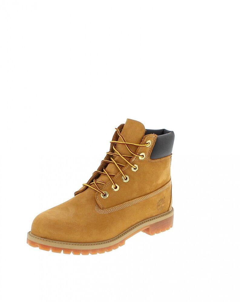 Timberland 6 Inch WP Premium Boots grau Damen Kinder Stiefel