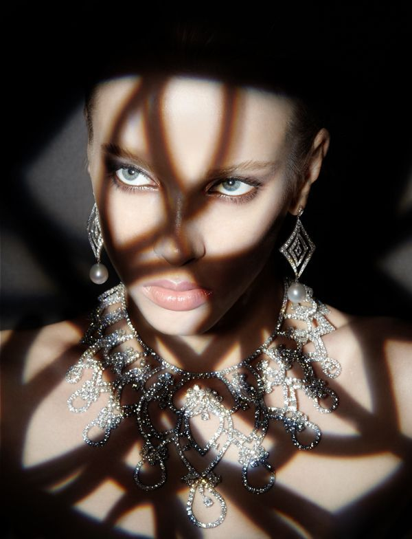 Photo of Stunning shadows and beautiful jewelry editorial on behance. Diamonds are a girl…