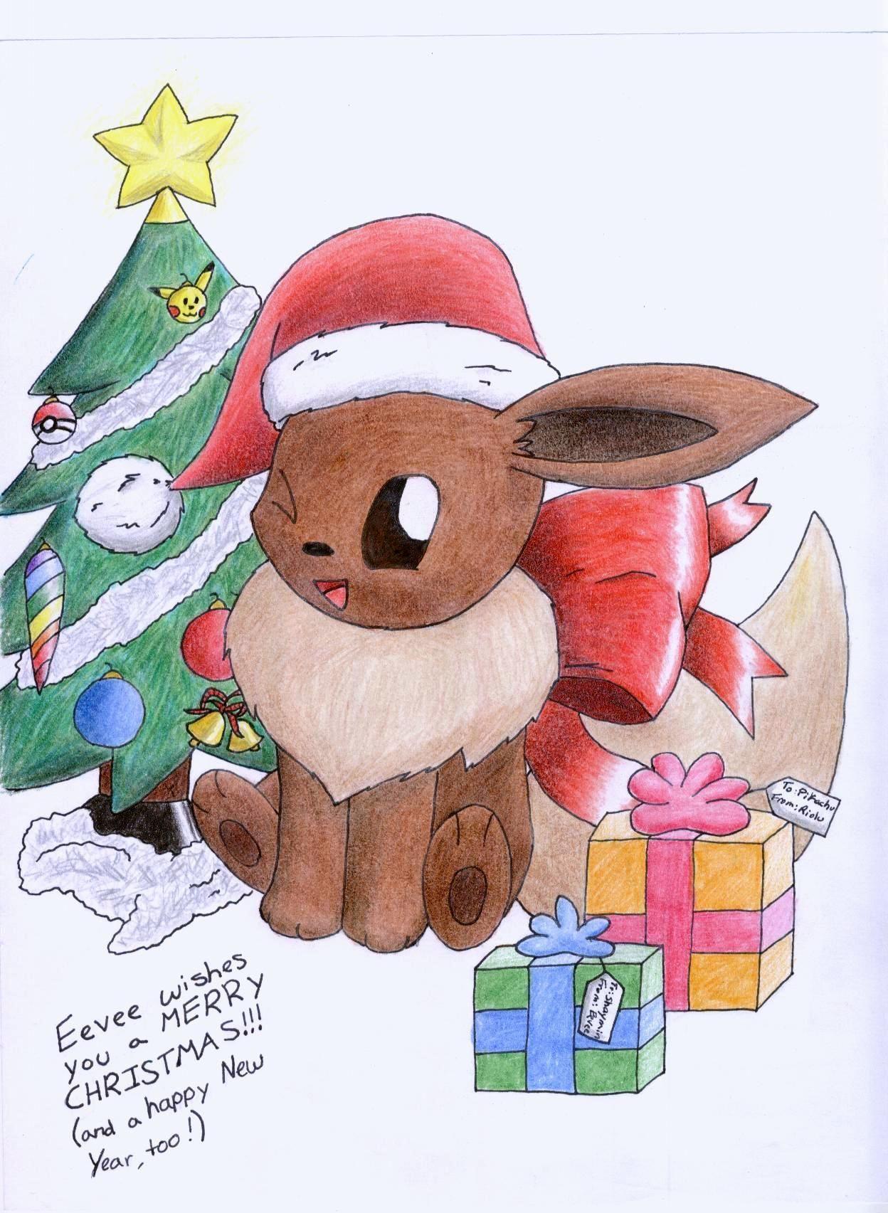 Christmas Eevee.Christmas Eevee Jul
