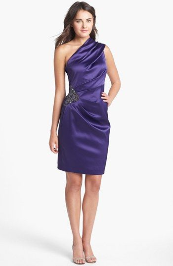 One Shoulder Satin Dresses