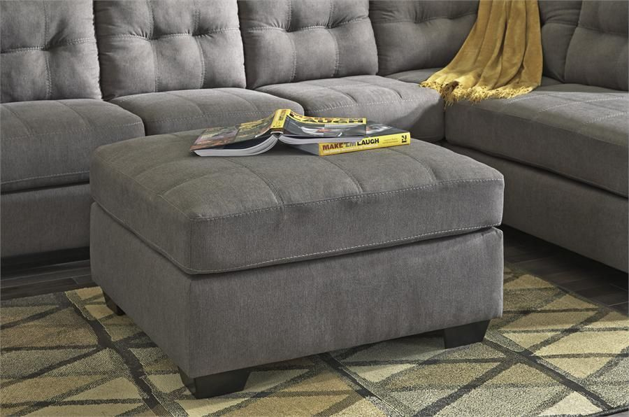 Maier Charcoal Ottoman With Storage By Ashley Furniture For The