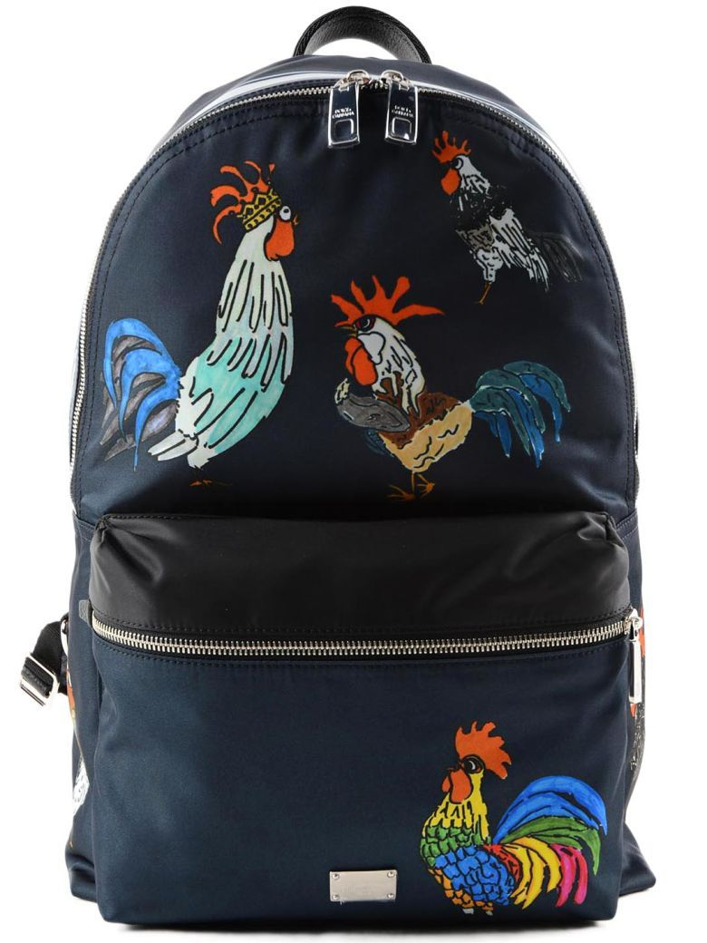 Cheap Explore Volcano rooster print backpack - Blue Dolce & Gabbana Visit New Cheap Price Buy Online With Paypal Outlet Newest Cheap Real Authentic IFrb3b