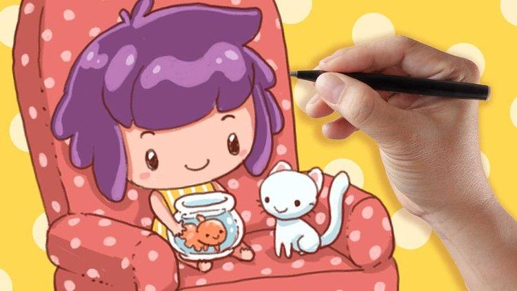 How To Draw Cute Cartoon Chibi Characters Be Programmer Online Cute Drawings Chibi Characters Pop Art Design