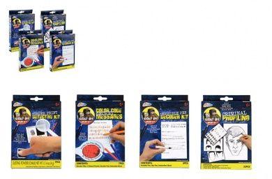 Secret Spy Agent Kits - Invisible Pen Decoder, Colour Code Secret Messages, Criminal Profiling and Finger Print Detective Kit