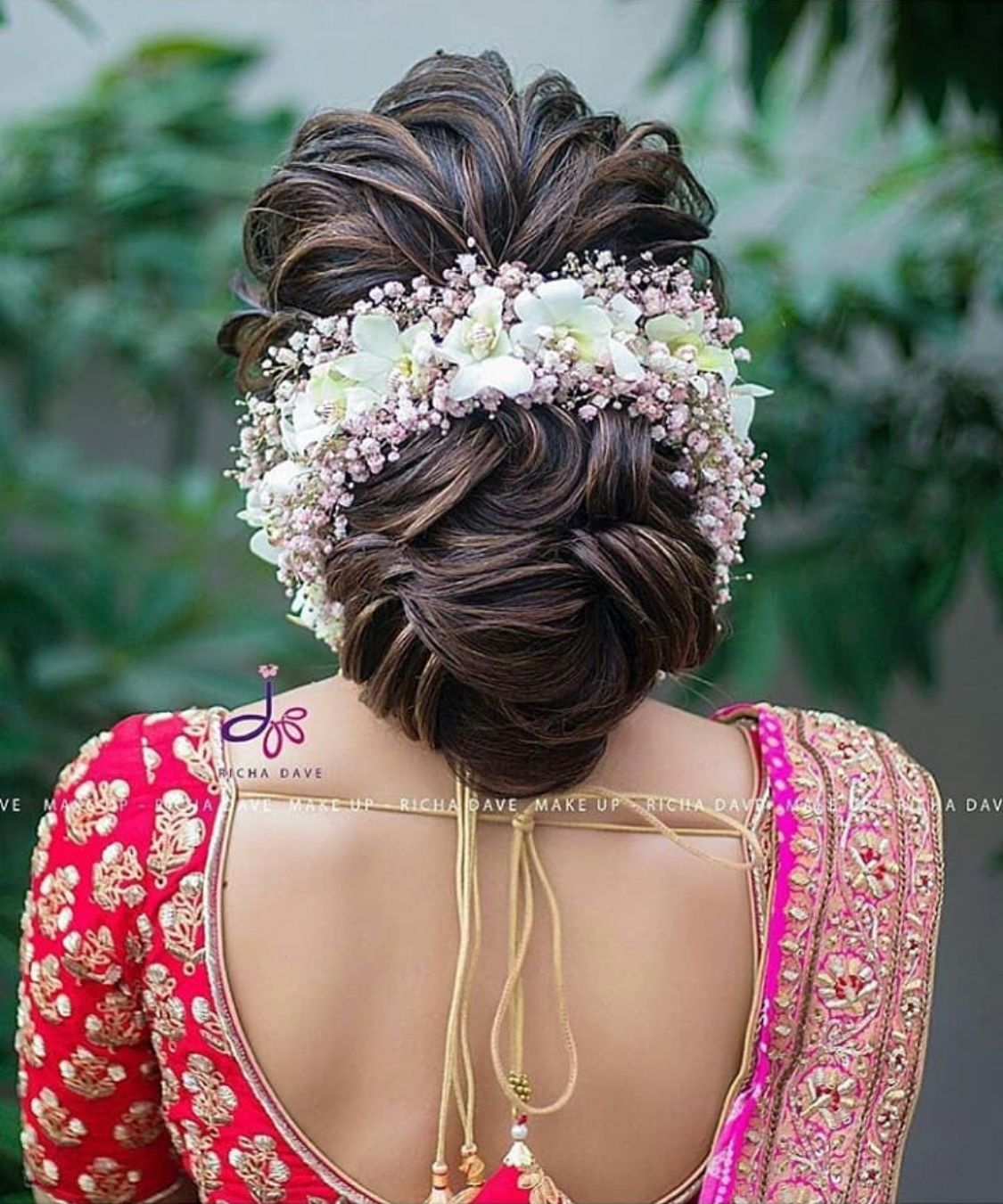 What A Beautiful Low Bun With Gajra Care However Should Be Taken Before Adop Bridal Hair Buns Bridal Hairstyle Indian Wedding Wedding Hairstyles For Long Hair