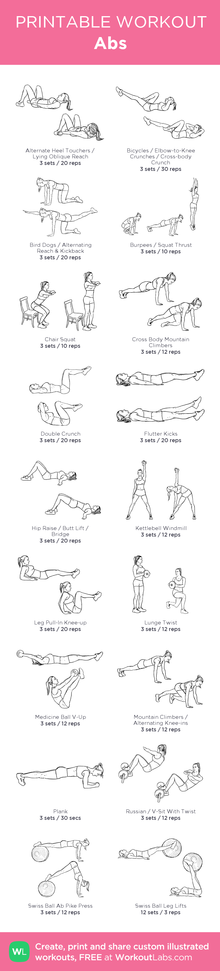 Abs – my custom workout created at WorkoutLabs.com   Work it Out ...