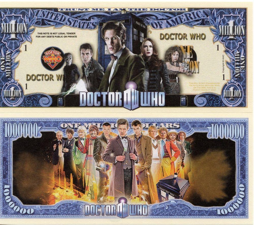 Doctor Who TV Series Million Dollar Novelty Money