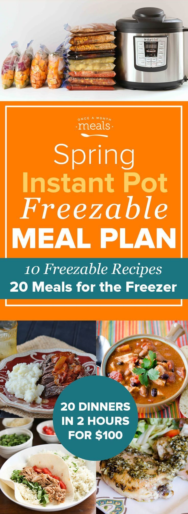 Shop, prep, and assemble 20 easy freezer meal dinners in