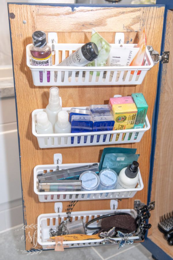 The Organized Life: Under the Bathroom Sink • Maria Louise Design #smallbathroomstorage