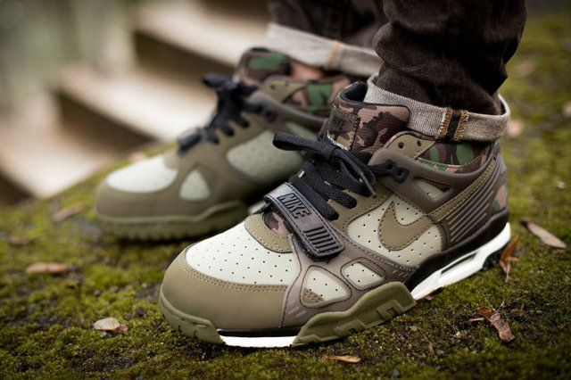 8370f71663fa3 nike-air-trainer-iii-camo-olive-bumper-7 | KICKS | Nike, Denim ...