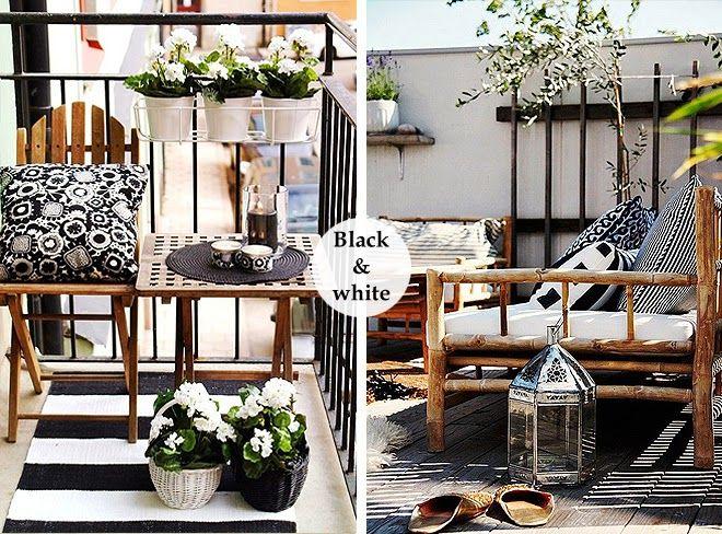 Terrazas Decoradas En Blanco Y Negro Via Miblog