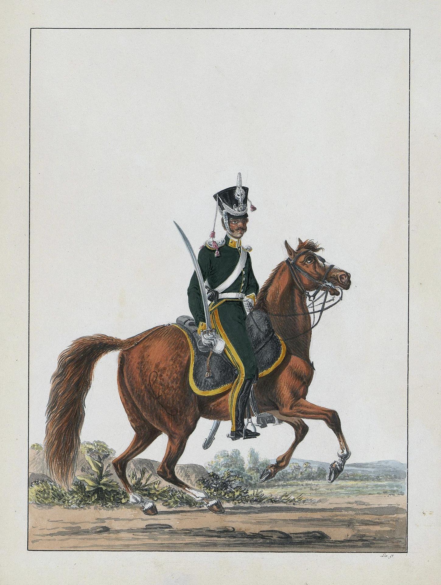 Podoficer 3pułku strzelców konnych.1816.