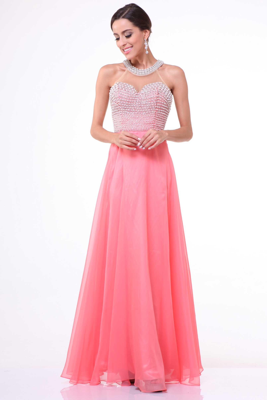 Prom dress with beaded bodice cd long aline prom dress