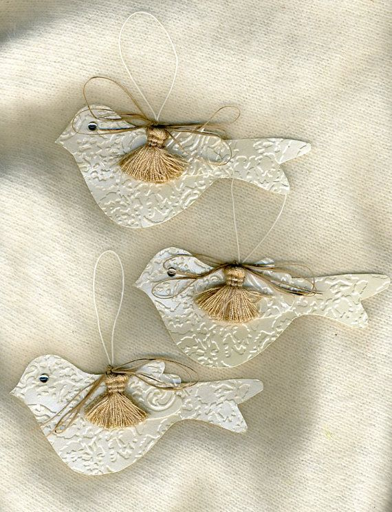 Gift tags or ornaments set of 6 white doves plus by twocooltexans, $18.00