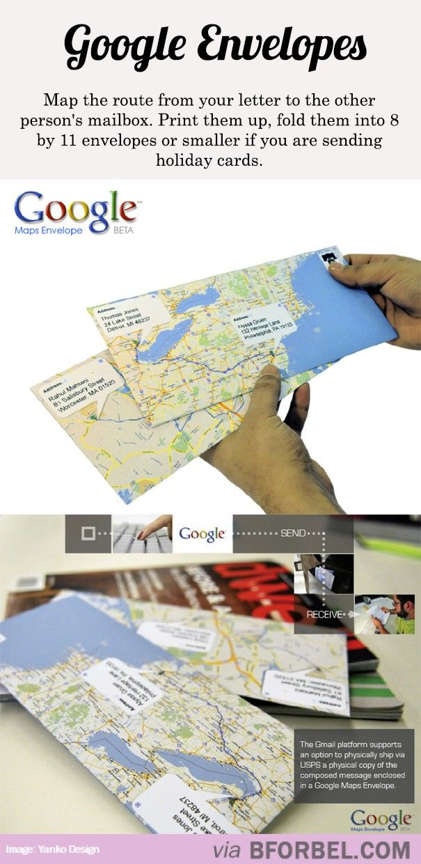 Google Envelopes…