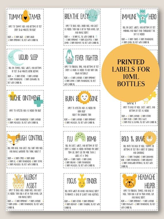 PRINTED YOUNG LIVING Kids Blends Roller Bottle Lab
