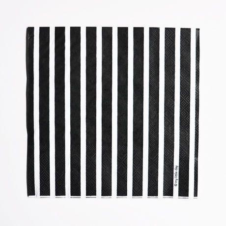 Lautasliinat: Raidallinen paperilautasliina, musta