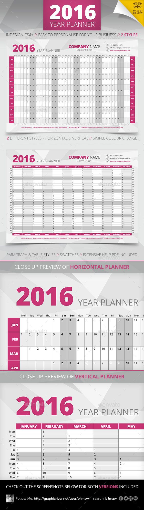 Year Wall Planner | Pinterest | Year planner, Layouts and Template