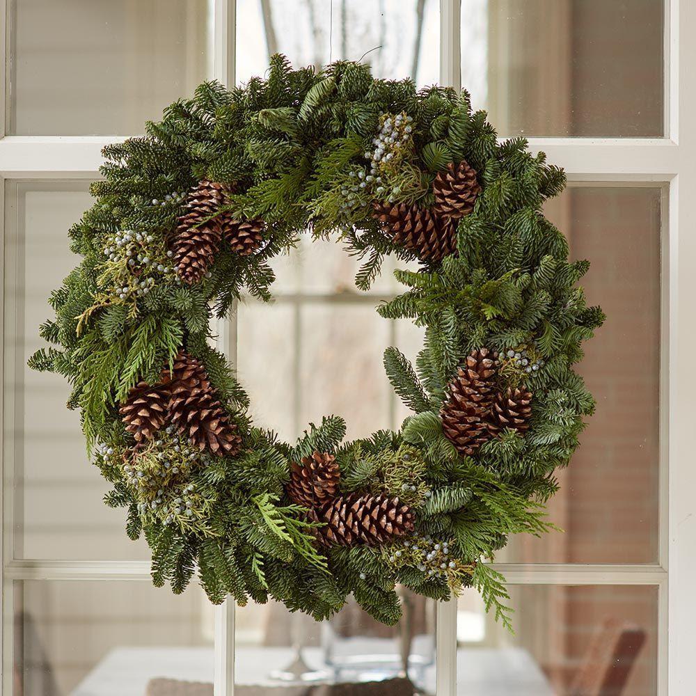 Rockport Holiday Wreath christmasdoorwreaths #christmasgreenery